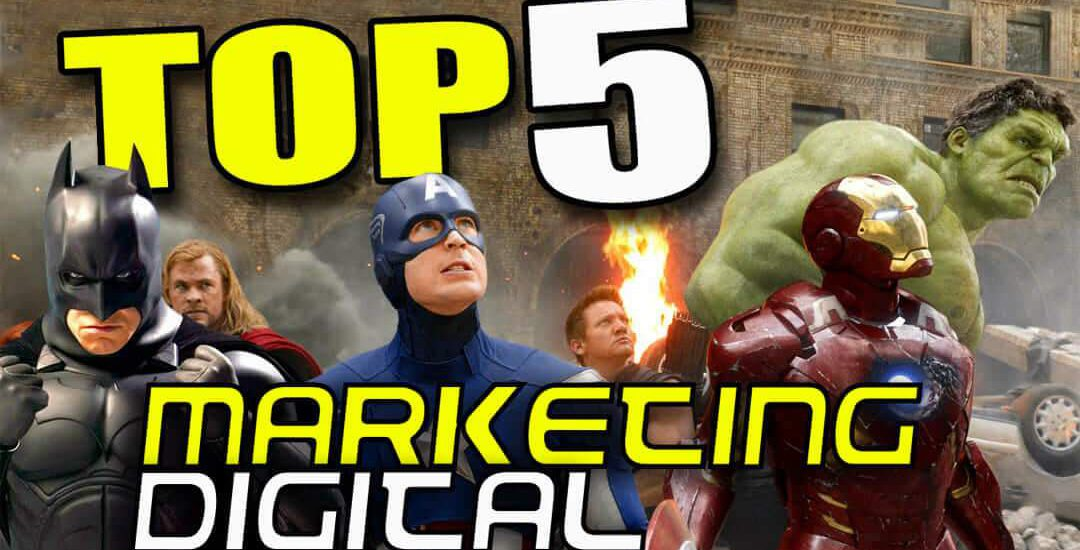 MARKETING DIGITAL PROFISSIONAIS TOP 5