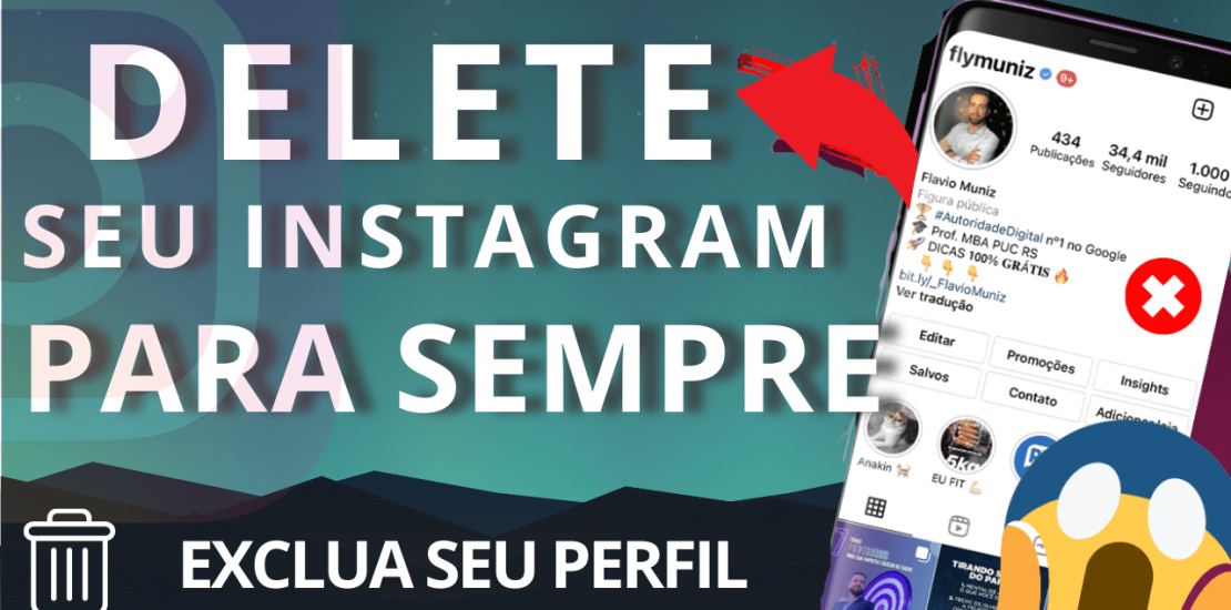 excluir conta do instagram