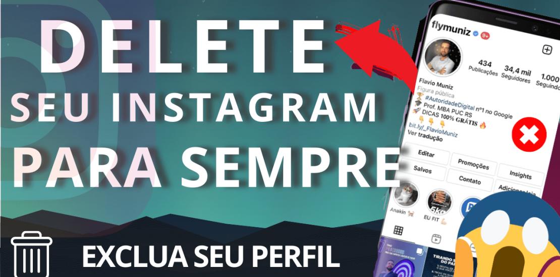 excluir conta do instagram